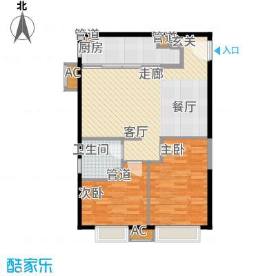 天津大悦城悦府90.00㎡高层1、3、4、5号楼标准层C户型