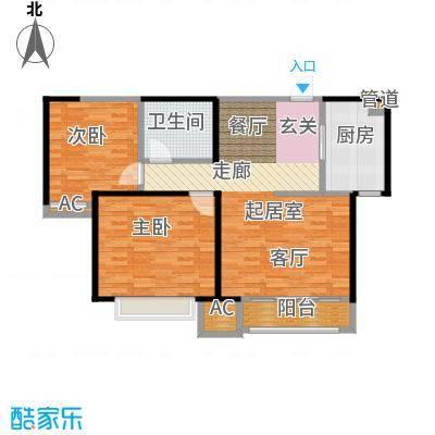 中建滨海壹号92.00㎡高层4号楼标准层全阳户型