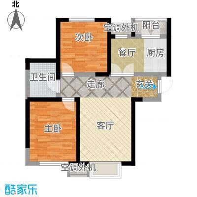柴楼新庄园90.00㎡高层标准层A/5户型