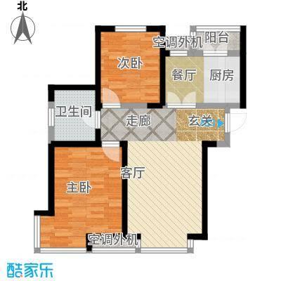 柴楼新庄园92.00㎡高层标准层B/1户型