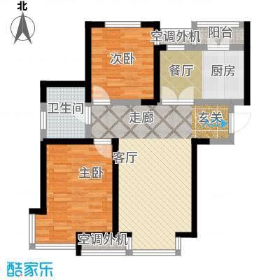 柴楼新庄园92.00㎡高层标准层B/2户型