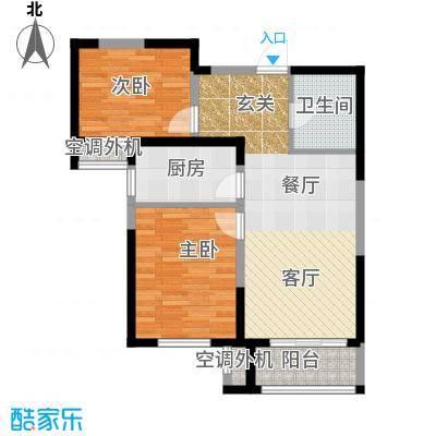 柴楼新庄园86.00㎡高层标准层A/4户型