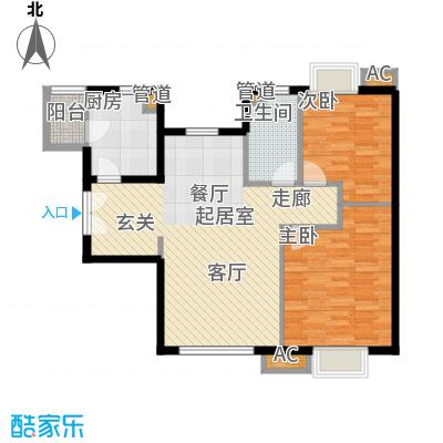 天津富力湾89.42㎡一期9号楼标准面积8942m户型