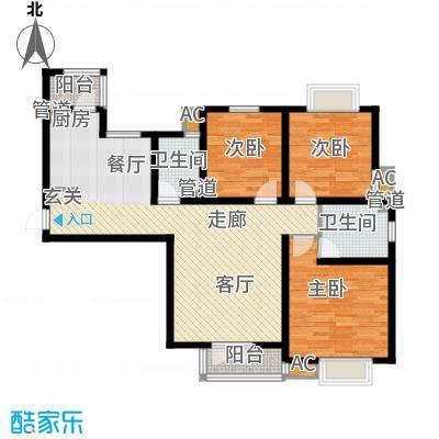 长瀛御龙湾125.33㎡高层标准层三面积12533m户型