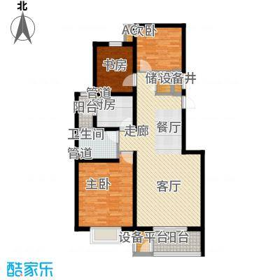长瀛御龙湾105.00㎡绮水湾标准层面积10500m户型