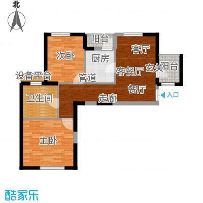 海逸长洲90.64㎡2号楼1面积9064m户型