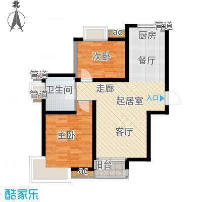 中建御景华庭89.00㎡高层标准层2b-2户型