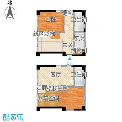 UPUP公寓66.51㎡高层标准层A户型