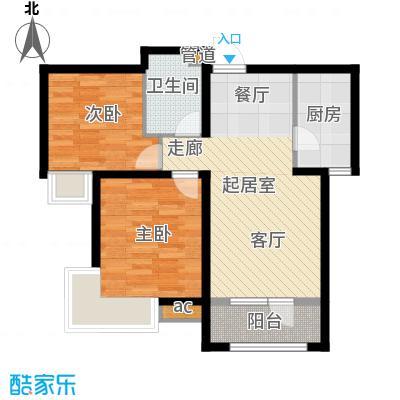 中建御景华庭95.00㎡高层标准层2a-2户型