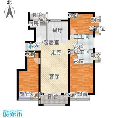 金润凤凰洲122.08㎡高层标准层C1户型