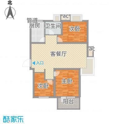中建御景华庭120.00㎡高层标准层3a-2户型