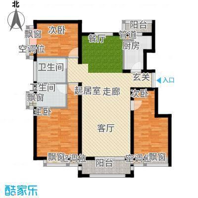 金润凤凰洲131.12㎡高层标准层C户型