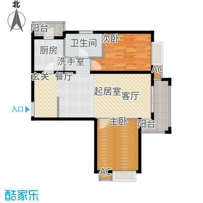 金润凤凰洲101.76㎡高层标准层B1户型