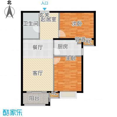 金润凤凰洲90.24㎡高层标准层B3户型