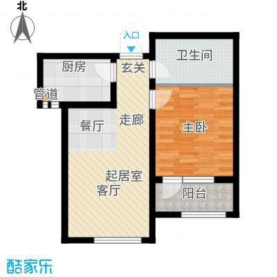 北辰新天地盛景湾76.00㎡高层20号楼3-24层A4户型