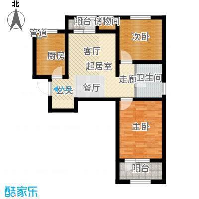 北辰新天地盛景湾89.00㎡高层19号楼11-24层B5户型