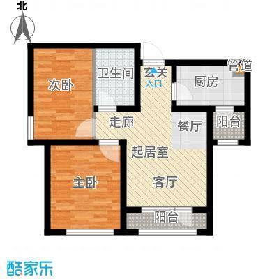 北辰新天地盛景湾90.00㎡高层12号楼2-23层B2户型