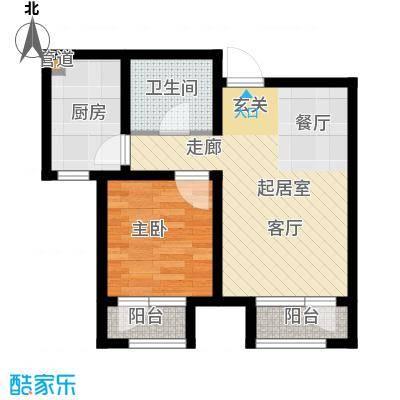 北辰新天地盛景湾68.00㎡高层19号楼11-25层A3户型