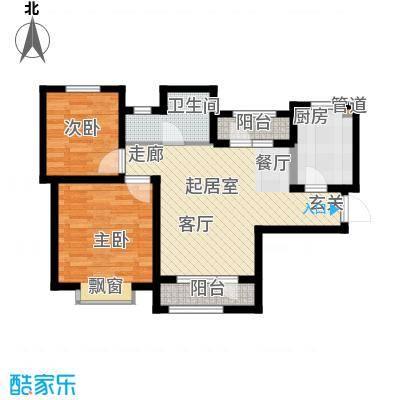 北辰新天地盛景湾92.00㎡高层12号楼2-23层B1户型