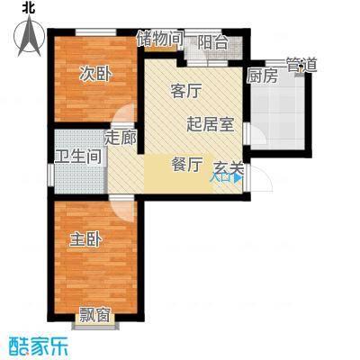 北辰新天地盛景湾83.00㎡高层19号楼1-24层B4户型