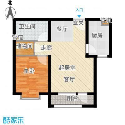 北辰新天地盛景湾74.80㎡高层19号楼11-24层A4户型