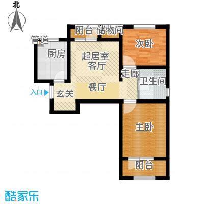 北辰新天地盛景湾89.50㎡高层19号楼11-24层B5户型