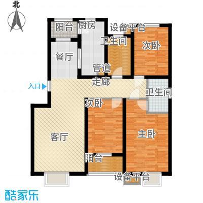 天津滨海现代城89.04㎡洋房标准层f户型