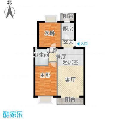 京东领秀城86.20㎡一期1号楼标准层A3户型