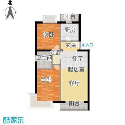 京东领秀城88.90㎡一期1号楼标准层A2户型
