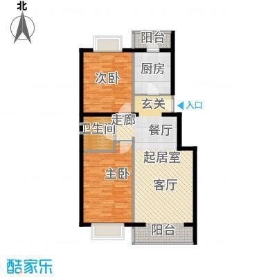 京东领秀城88.50㎡一期1号楼标准层B1户型