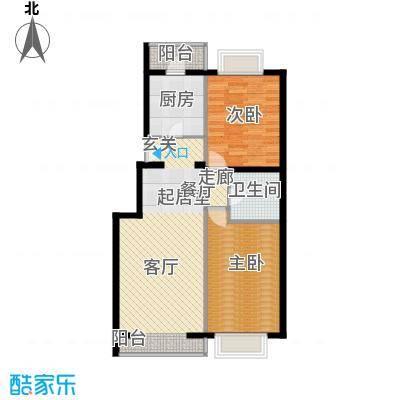 京东领秀城88.50㎡一期1号楼标准层B2户型