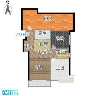 京东领秀城97.40㎡一期1号楼标准层C3户型