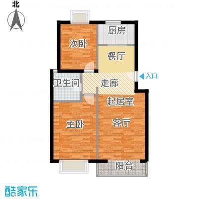 京东领秀城88.00㎡一期1号楼标准层D1户型
