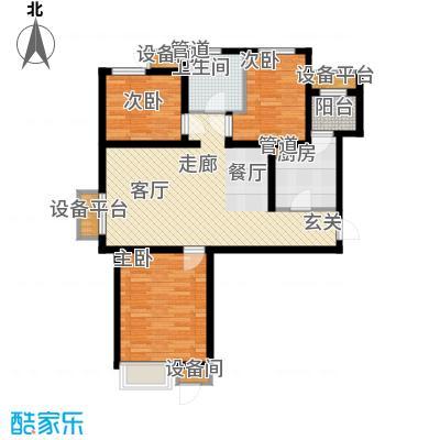 荔隆观邸104.40㎡2-6号楼标准层C1户型