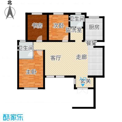 听涛苑120.41㎡20号楼标准层A1a户型