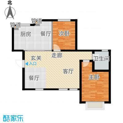 听涛苑101.64㎡20号楼标准层A4户型