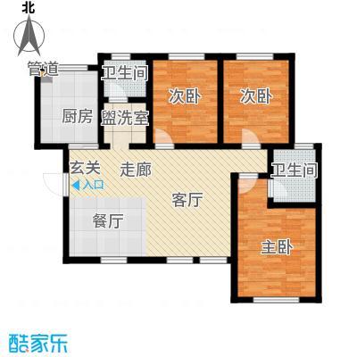 听涛苑115.04㎡20号楼标准层A2/3户型