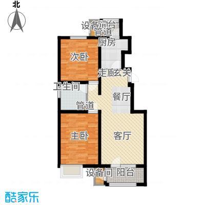 荔隆观邸99.41㎡2-6号楼标准层A1户型