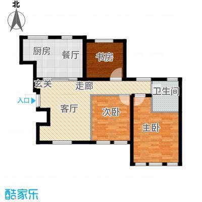 听涛苑101.00㎡21-26号楼标准层B5户型