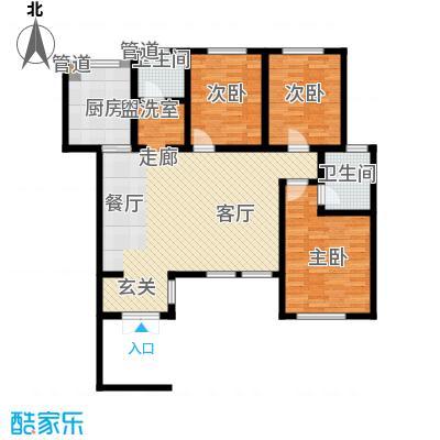 听涛苑125.63㎡20号楼标准层A1b户型