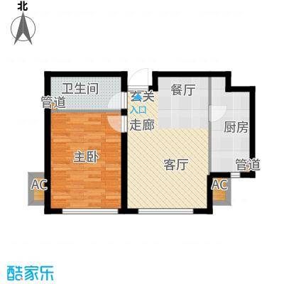 听涛苑70.00㎡12-17号楼标准层B户型