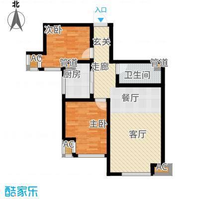 听涛苑85.00㎡8-10号楼标准层H户型
