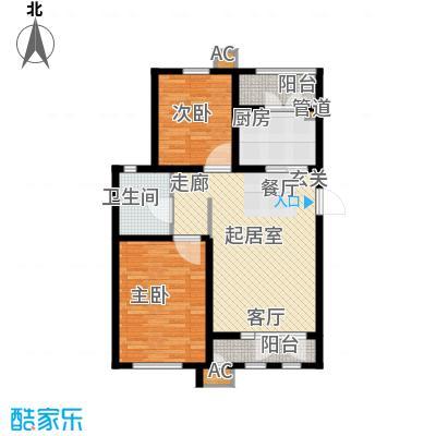 松江东湖小镇95.00㎡洋房标准层C户型