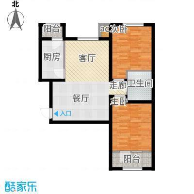 佳和雅庭82.00㎡12、14号楼高层标准层A户型