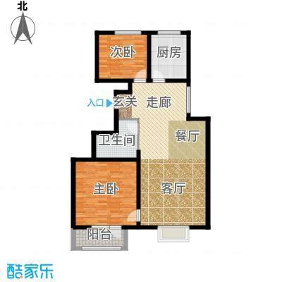中铁四季公馆96.70㎡高层标准层B2户型