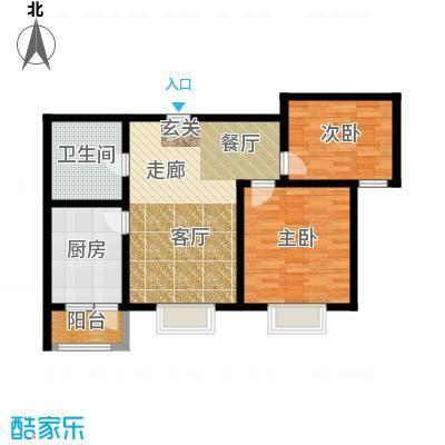 中铁四季公馆81.50㎡高层标准层C3户型