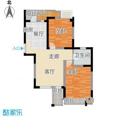枫尚河院89.82㎡15、28、29号楼4、8、12层C户型