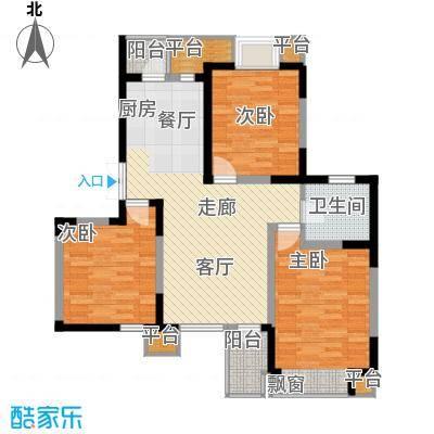 枫尚河院107.07㎡15、28、29号楼1层a户型