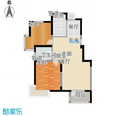 武清五一阳光93.00㎡1号楼标准层A户型