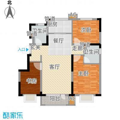 中建幸福城115.00㎡二期洋房标准层端户型